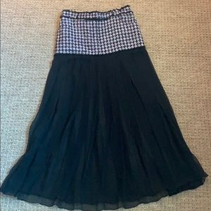 Balmain Tweed and Georgette Skirt